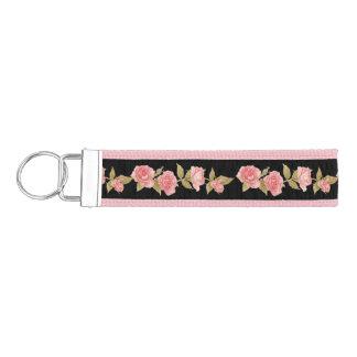 Vintage Roses Wrist Key Chain
