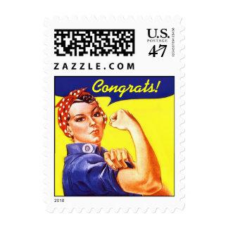 Vintage Rosie de la enhorabuena los sellos del