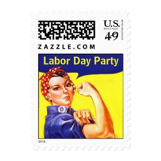 ¡Vintage Rosie de los sellos el fiesta del Día del