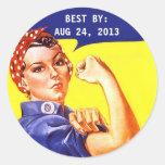Vintage Rosie del pegatina el MEJOR de enlatado