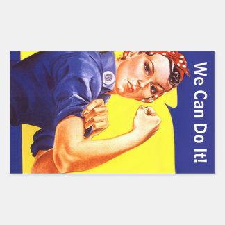¡Vintage Rosie del pegatina el remachador podemos