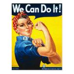 Vintage Rosie la postal de la guerra del remachado