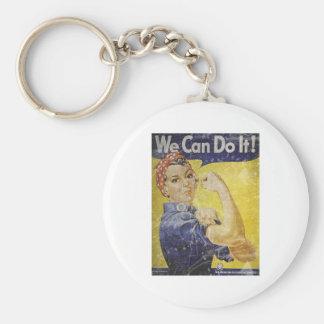 Vintage Rosie The Riveter Keychain
