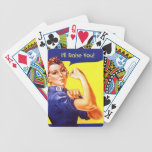 Vintage Rosie the Riveter Playing Cards Any Text!