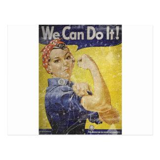 Vintage Rosie The Riveter Postcard