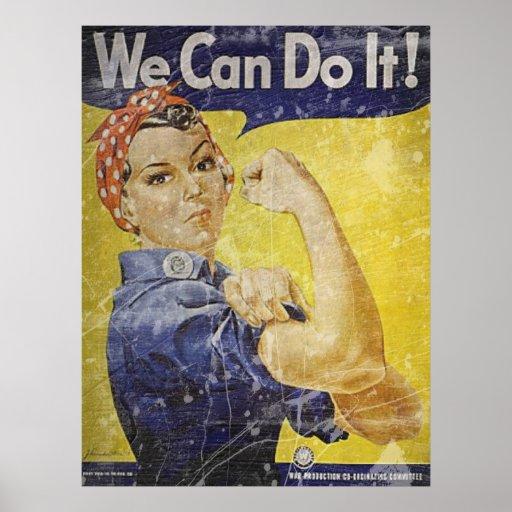 Vintage Rosie The Riveter Print