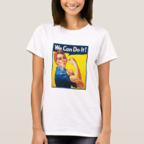 Vintage Rosie the Riveter Strong Woman Power Retro T-Shirt