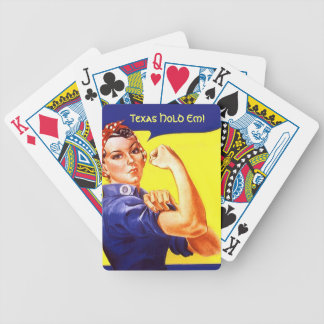 Vintage Rosie the Riveter Texas Hold Em! Cards Bicycle Playing Cards