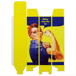 Vintage Rosie the Riveter ~ Wine Can Do It! Box