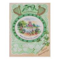 Vintage Ross Castle St Patrick's Day Card Post Cards