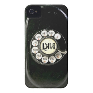 Vintage rotary dial bakelite phone, add initials Case-Mate iPhone 4 cases