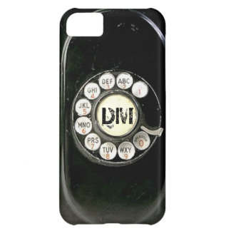 Vintage rotary dial bakelite phone, add initials case for iPhone 5C