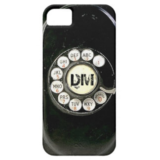 Vintage rotary dial bakelite phone, add initials iPhone 5 covers
