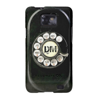 Vintage rotary dial bakelite phone, add initials samsung galaxy s2 cases
