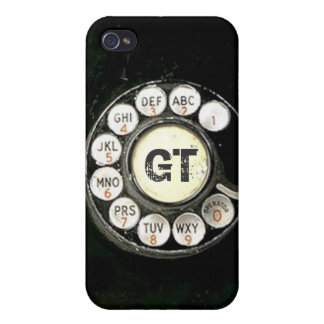 Vintage rotary dial bakelite phone, add initials iPhone 4/4S cases