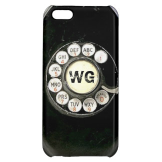Vintage rotary dial bakelite phone, add initials iPhone 5C case