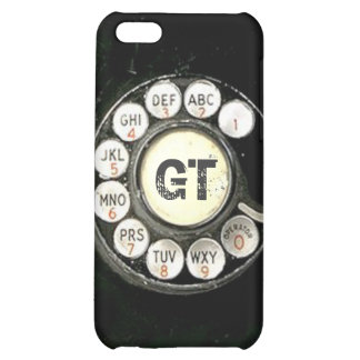 Vintage rotary dial bakelite phone, add initials iPhone 5C cases