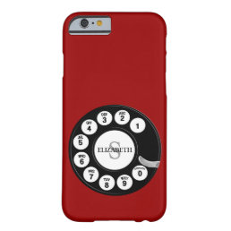 Vintage Rotary Dial (red) Barely There iPhone 6 Case