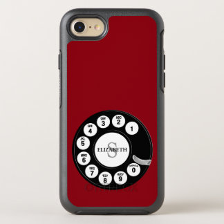 Vintage Rotary Dial (Red) OtterBox Symmetry iPhone 7 Case