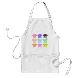 vintage rotary dial telephone adult apron