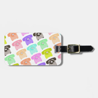 vintage rotary dial telephone luggage tag