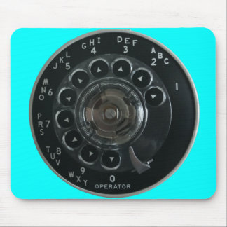 Vintage Rotary Phone Dial Mousepad (Turquoise)