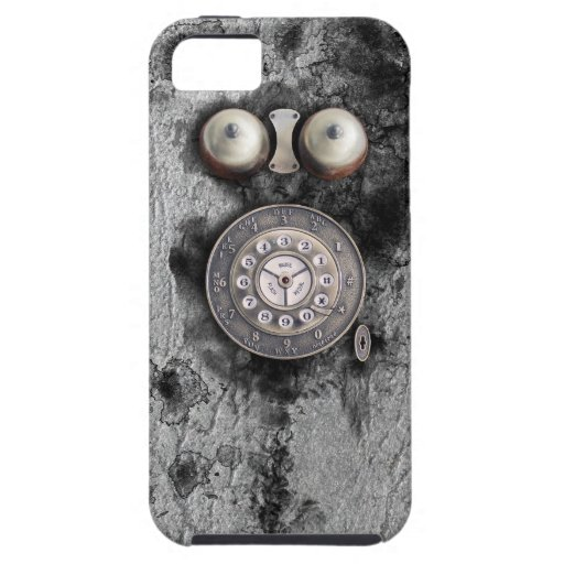 Vintage Rotary phone dial on congregation grunge w iPhone 5 Covers