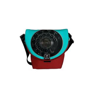 Vintage Rotary Phone Dial Rickshaw Messenger Bag