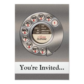Vintage Rotary Phone Invite
