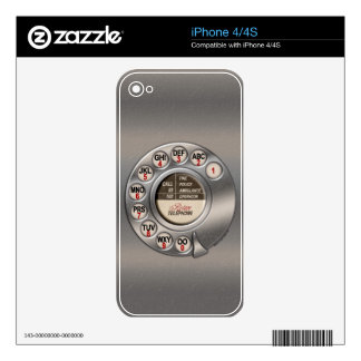 Vintage Rotary Phone iPhone 4 Skins