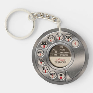 Vintage Rotary Phone Keychain