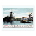 Vintage Rotterdam The Netherlands Old Port Postcard