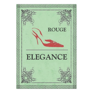 VINTAGE ROUGE ELEGANCE RED HIGH HEEL FASHION LARGE BUSINESS CARD