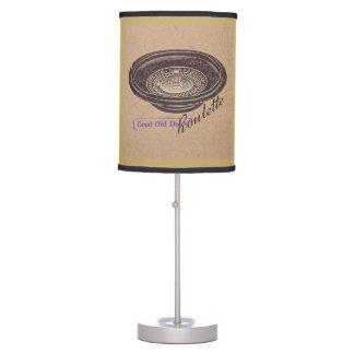 vintage roulette desk lamp
