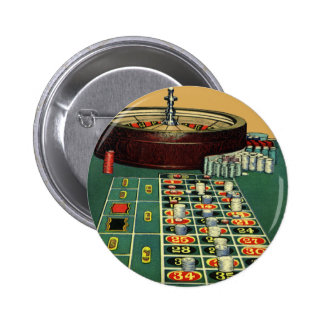 Vintage Roulette Table Casino Gambling Chips Game Pin