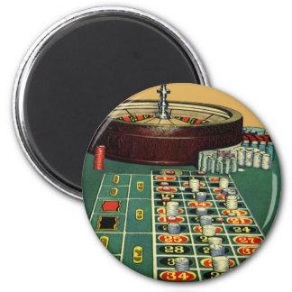 Vintage Roulette Table Casino Gambling Chips Game Fridge Magnets