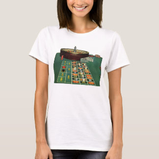 Vintage Roulette Table Casino Gambling Chips Game T-Shirt