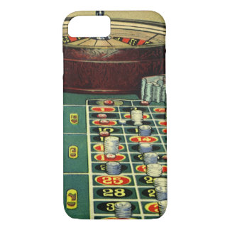 Vintage Roulette Table Casino Game, Gambling Chips iPhone 8/7 Case
