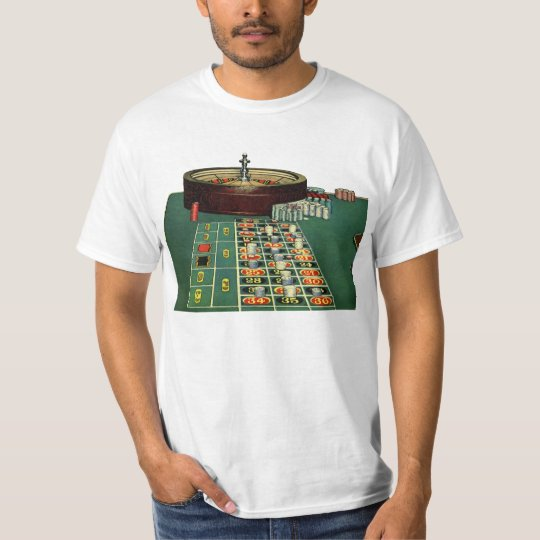 Vintage Roulette Table Casino Game, Gambling Chips T-Shirt