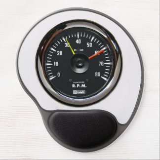 Vintage Round Analog Auto Tachometer Mousepad Gel Mouse Pad