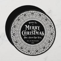 Vintage Round Black + Off White Celtic