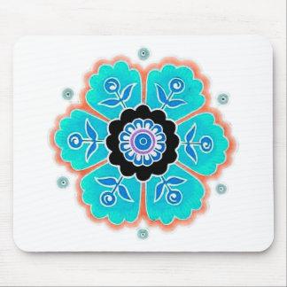 Vintage Round Flower Pattern Mousepads
