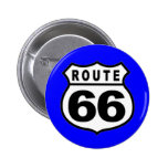 VINTAGE ROUTE 66 AMERICANA FATHER'S DAY BUTTON