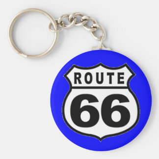 VINTAGE ROUTE 66 AMERICANA FATHER'S DAY KEYCHAIN