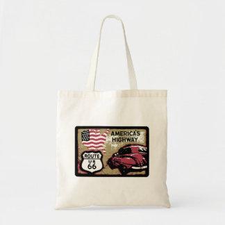 Vintage Route 66 Canvas Bag