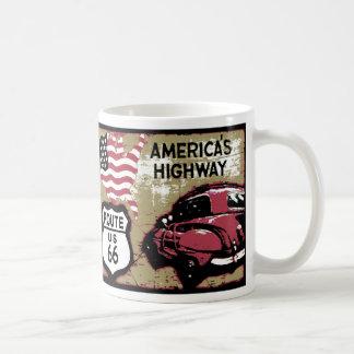 Vintage Route 66 Classic White Coffee Mug