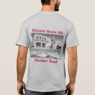 Vintage Route 66 Destination Winslow Arizona Photo T-Shirt
