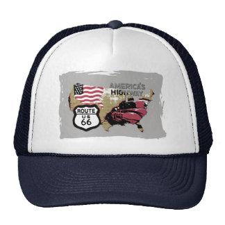 Vintage Route 66 Trucker Hat