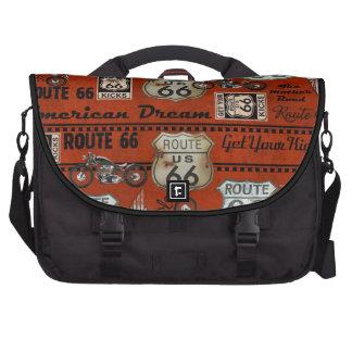 Vintage Route 66 Laptop Messenger Bag