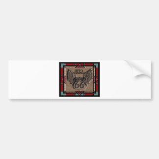 vintage route 66 leader america higway bumper sticker